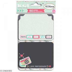 Toga Cartes pour album photo Project Life - Clic Clac - 60 pcs