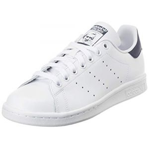 Adidas Stan Smith, Baskets Femme, Blanc (Footwear White/Footwear White/Collegiate Navy 0), 41 1/3 EU