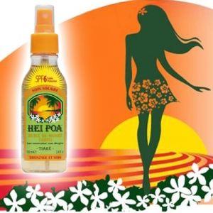 Hei Poa Huile de monoï Tahiti parfum tiaré SPF06