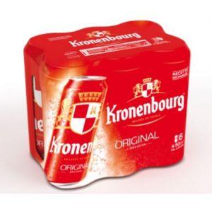 Kronenbourg Bière blonde, 4,2%vol. - Les 6 boîtes de 50cl