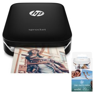 HP Sprocket Noir + ZINK 20 papiers photos adhésifs
