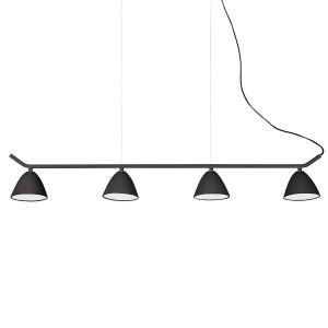 Faro Large suspension Flash LED L104 cm - Noir