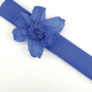 Rouleau papier crépon 10m Bleu Foncé