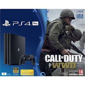 Sony PS4 Pro 1 To + Call of Duty : World War II + Qui-es-tu ?