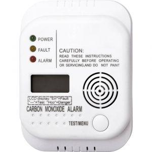 Elro Détecteur de monoxyde de carbone Smartwares RM370 – Capteur 7 ans – Pile 1 an incluse – Affichage