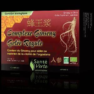 Sante verte Ginseng et Gelée Royale bio (10 ampoules)