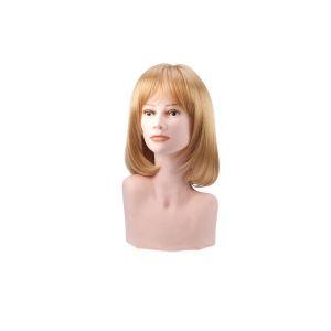 Beautydis Clara - Perruque mi-longue 25-30 cm Blond clair doré 9.3