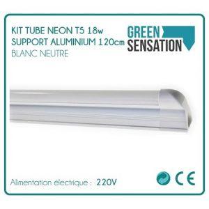 Desineo Kit Tube 120cm Néon T5 sur support aluminium éclairage économique -
