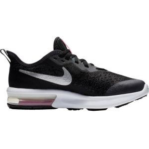 Nike AIR MAX SEQUENT 4 - NOIR /ROSE - fille - CHAUSSURES BASSES