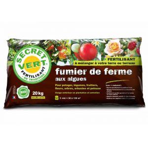 Secret vert Terreau de fumier fermier avec algues fertilisant 20 kg