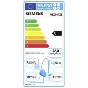 Siemens VSZ7442S - Aspirateur traîneau avec sac