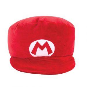 Tomy Super Mario - Peluche Mocchi Mocchi Casquette de Mario Rouge 30 cm