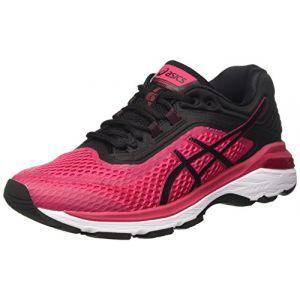Asics GT-2000 6, Chaussures de Running Femme, Noir (Bright Rose/Black/White 2190), 37 EU