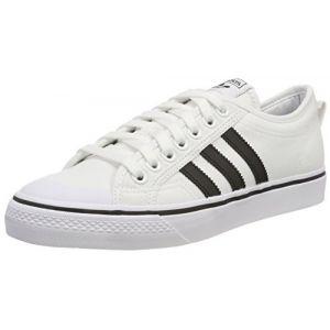 Image de Adidas Nizza, Chaussures de Basketball Homme, Blanc Cassé (Ftwwhtcblackftwwht), 44 EU