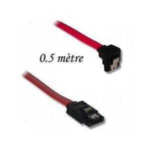 Lineaire PCS15A5 - Cordon SATA mâle droit/Mâle coudé bas 0,5 m