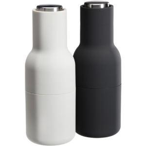Menu 2 moulins à sel et poivre Bottle en plastique et bois (20 cm)