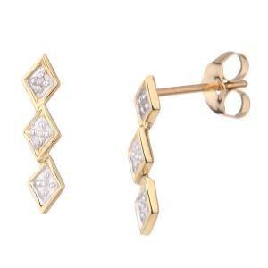 Bijoux Monte Carlo Star E90017B9KT - Boucles d'oreilles en or et diamants