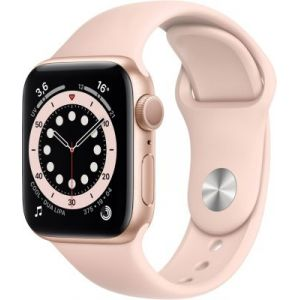 Apple Watch Series 6 GPS, 44mm boitier aluminium or avec bracelet sport rose