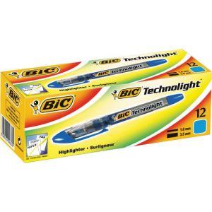 Bic 12 Surligneurs Technolight pointe biseautée