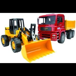 Bruder Toys 2752 - Camion benne avec tractopelle