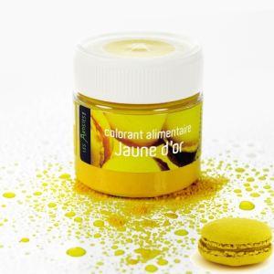 Les Artistes Paris Colorant alimentaire en poudre jaune d'or (10g)
