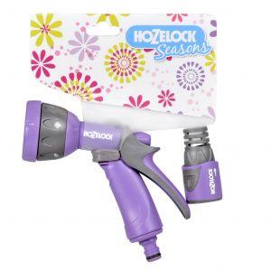 Hozelock Set pistolet arrosoir + raccord lila