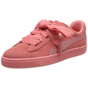 Puma Suede Heart SNK Jr, Sneakers Basses Fille, Rose (Shell Pink-Shell Pink), 36 EU
