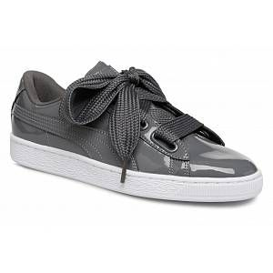 Puma Basket Heart Patent Wn's, Sneakers Basses Femme, Gris (Iron Gate-Iron Gate 17), 40 EU