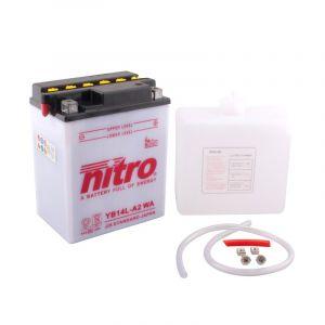 Nitro Batterie YB14L-A2 ouvert avec pack acide Type Acide