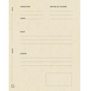 Exacompta 220112E - Paquet de 25 dossiers de plaidoirie Pour/Contre, en carte 265 g/m², coloris ivoire