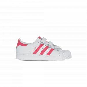 Image de Adidas Superstar Cf Blanc/rose Originals Blanc/rose 33 Enfant