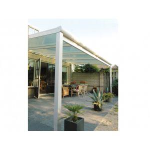 Expertland Pergola en aluminium blanc ESTRELLA 4x3m