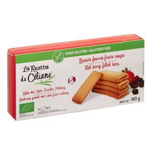 Les Recettes de Céliane Biscuits fourrés fruits rouges Bio sans gluten (160g)