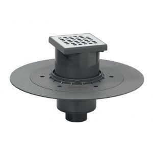 Wirquin Siphon de douche à carreler - 150 x 150 mm - Sortie verticale - Venisio - Pro