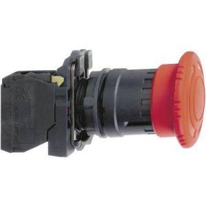 Schneider Arrêt d'urgence rouge Ø22 coup de poing Ø 40 mm tourner pour déverrouiller XB5AS8445 Harmony XB5