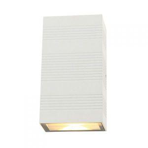 Vision-El Applique murale LED 2x5W rectangulaire 3000°K blanc IP54