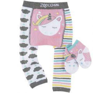 Zoocchini Legging et chaussettes Allie la licorne ailée (6-12 mois)