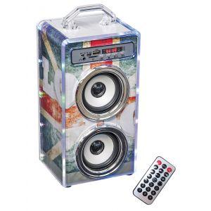 Inovalley Dance Cube - Enceinte lumineuse Bluetooth décor UK