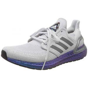 Adidas Ultraboost 20, Chaussure de Course Homme, Gris Tiret/Gris Trois F17/ Boost Bleu Violet Met, 39 1/3 EU