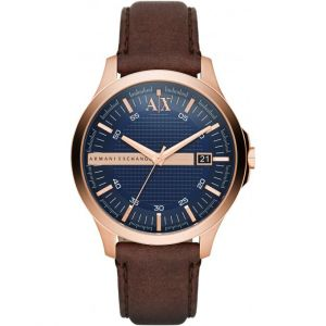 Giorgio Armani AX2172 - Montre pour homme avec bracelet en cuir