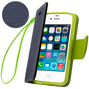 Avizar FOLIO-FANCY - Étui portefeuille avec dragonne pour Apple iPhone 4
