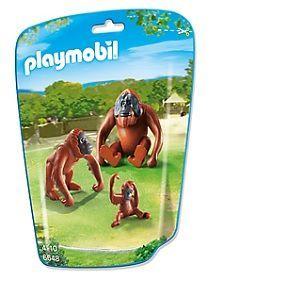 Playmobil 6648 City Life - Sachet deux orangs-outangs avec bébé