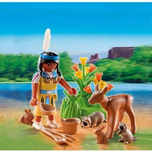 Playmobil 5278 - Oeuf : Indienne avec animaux