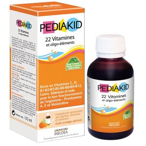 Pediakid Sirop 22 vitamines et oligo-éléments goût abricot orange