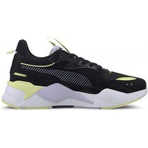 Puma Chaussure Basket RS-X Reinvent pour Femme, Noir/Violet/Bruyère, Taille 37, Chaussures