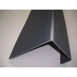 McCover Profil de rive toiture tuile PVC L 188 cm - Coloris - Gris anthracite, Largeur - 38 cm, Longueur - 188 cm Gris anthracite - 188 cm / 38 cm /