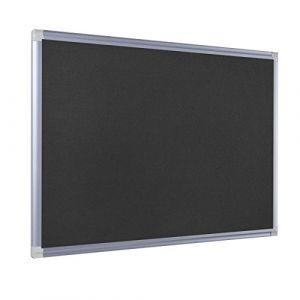 Bi-office FA0309830 New Generation Tableau d'affichage en Feutre/Cadre en Aluminium 90 x 60 cm Noir
