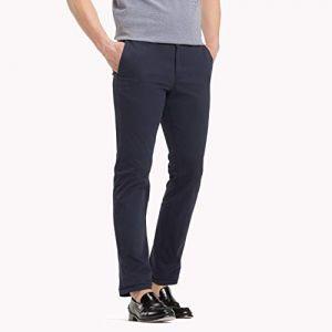 Tommy Hilfiger Pantalon Homme Chino droit Core Denton, Bleu bleu - Taille US 33 / 30