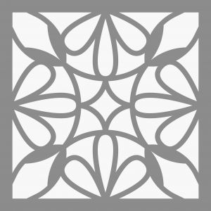 Artémio Pochoir Home Déco - Carreau ciment Pétales - 15 x 15 cm