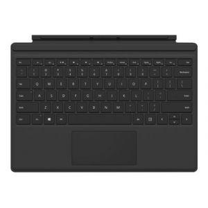 Microsoft Surface Pro Type Cover (M1725) - Clavier - avec trackpad, accéléromètre - Luxembourgeois - noir - commercial - pour Surface Pro (Mi-2017), Pro 3, Pro 4